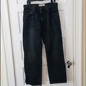 Levi's 559 Black Well Worn Straight Jeans SO COOL!